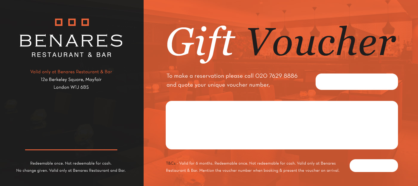 gift certificate terms and conditions template - gift voucher evoucher benares
