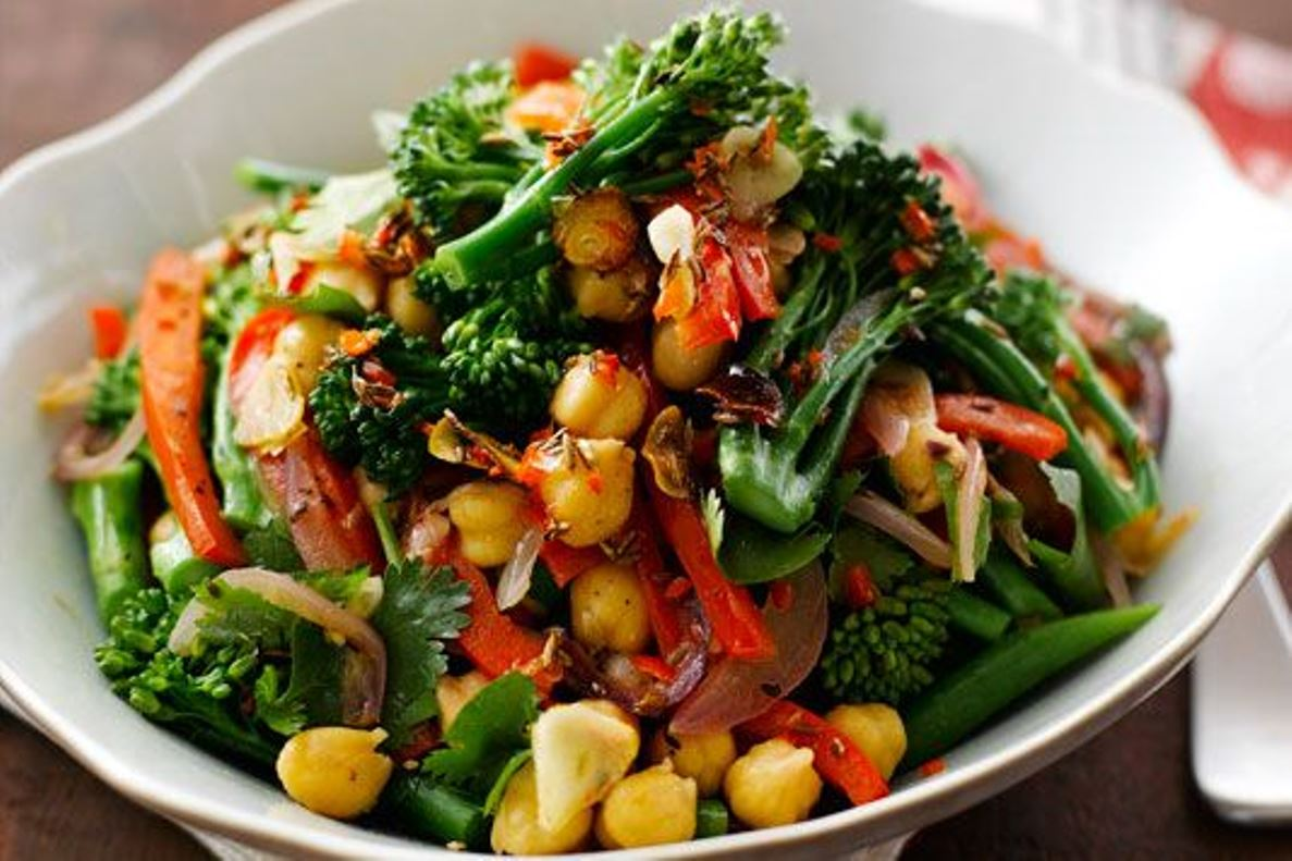 Summer Tenderstem Brocolli and Chickpea Salad by Atul Kochhar